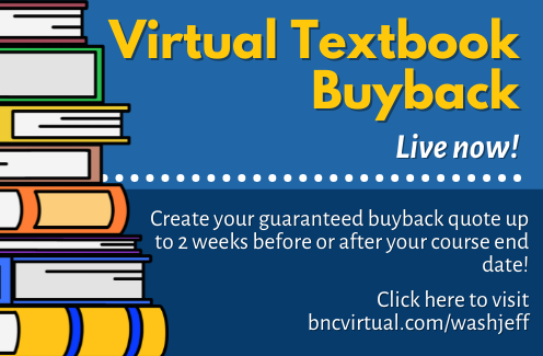 Virtual Textbook Buyback is now available at bncvirtual.com/washjeff