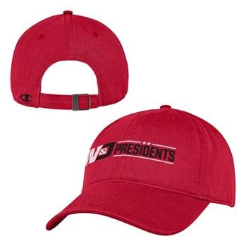 CHAMPION RED ATHLETIC LOGO CAP