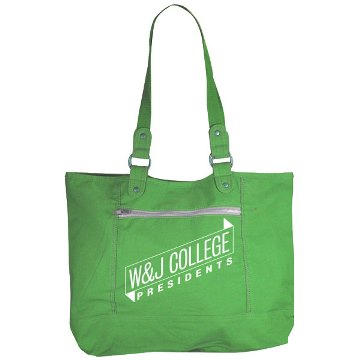 Image For CAROLINA SEWN GREEN SIDLINE TOTE