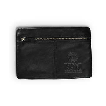 Image For CAROLINA SEWN BLACK LEATHER KEEPER POUCH