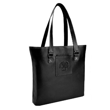 Image For CAROLINA SEWN BLACK LAPTOP BAG