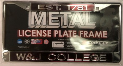 Image For STOCKDALE 1781 LICENSE PLATE FRAME