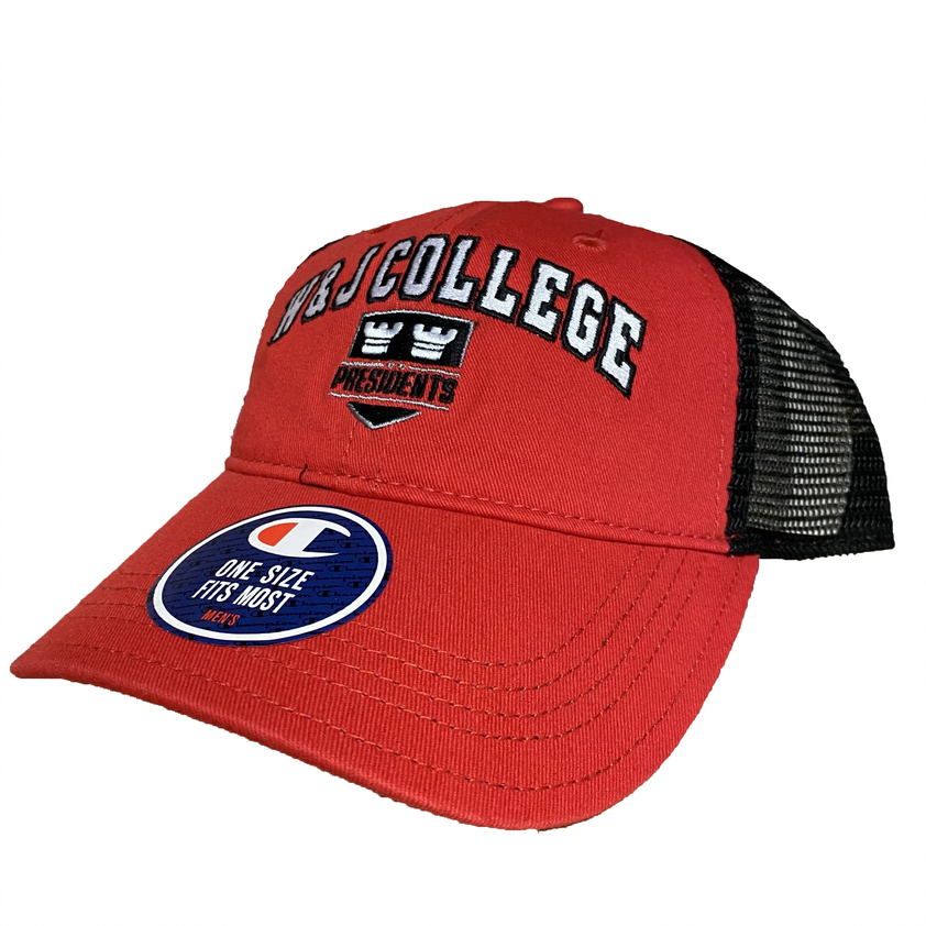 Cover Image For Champion Red Trucker Mesh Cap