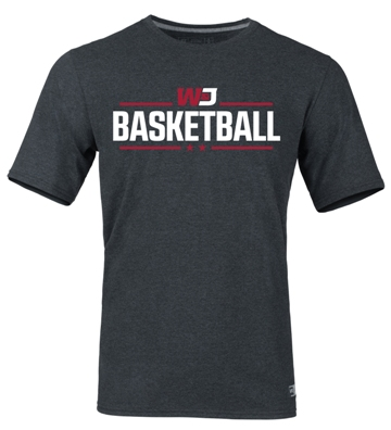 Image For RUSSELL BLACK HEATHER BASKETBALL T-SHIRT (S to XL)
