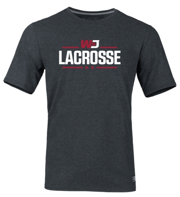 Cover Image For RUSSELL BLACK HEATHER LACROSSE T-SHIRT (S to XL)
