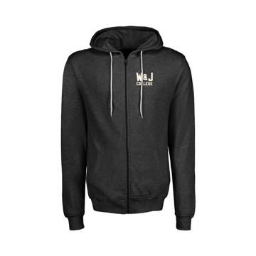 Cover Image For MV SPORT RETRO CHARCOAL HEATHER FULL ZIP HOOD