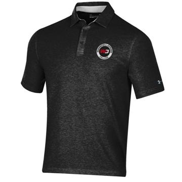 Cover Image For UA 0590 BLACK HEATHER CHARGED COTTON POLO