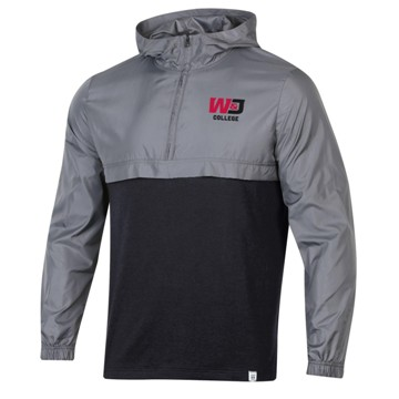 Image For UA 1250 BLACK/GREY WIND LAYER QUARTER ZIP