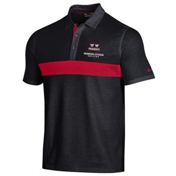 Cover Image For UNDER ARMOUR 7039 BLACK/RED SKYBOX POLO