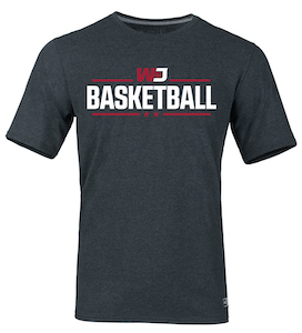 Image For RUSSELL BLACK HEATHER BASKETBALL T-SHIRT 4XL