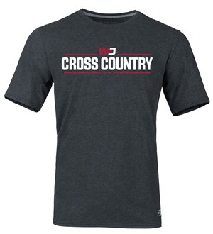 Image For RUSSELL BLACK HEATHER CROSS COUNTRY T-SHIRT 2XL