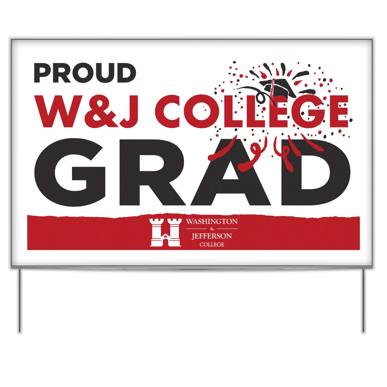Cover Image For Spirit W&J Graduate Yard Sign